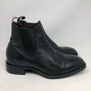 ARIAT Black Leather Ankle Boots Booties Men sz 11